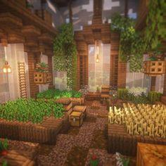 Minecraft Greenhouse, Villa Minecraft, Casa Medieval Minecraft, Art Minecraft, Minecraft Garden, Minecraft Structures, Cute Minecraft Houses, Minecraft Plans, Minecraft House Designs