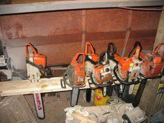 Chainsaw Storage Garage Ideas In 2019 Garage Tools