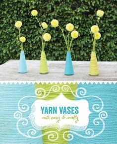 DIY Tutorial: Yarn Wrapped Vases {+ Mini Dahlias} by @Amber Lay for HWTM