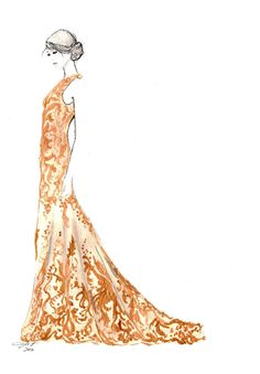 Mad about McQueen, #watercolor by Jessica Durrant. #mcqueen #fashionillustration