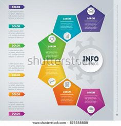 Vector dynamic infographics of technology or education process. Business presentation with 6 options. Web Template of a chart, mindmap or diagram Infographic Powerpoint, Powerpoint Charts, Infographic Templates, Web Design, Layout Design, Business Presentation, Presentation Design, Powerpoint Design Templates, Visualisation