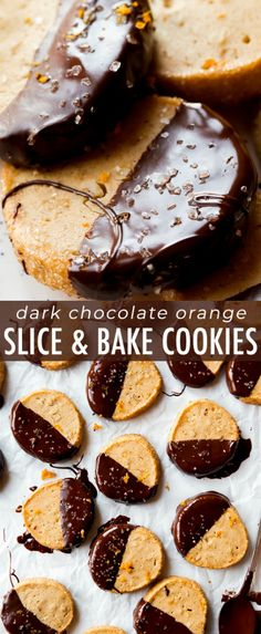 Dark chocolate and sweet orange slice and bake cookies! Make ahead of time and j… Dark chocolate and sweet orange slice and bake cookies! Make ahead of time and just pop into the oven when the craving hits! Recipe on sallysbakingaddic… Lemon Cookies Easy, Buttery Cookies, Sugar Cookies Recipe, No Bake Cookies, Cookies Et Biscuits, Cookie Recipes, Dessert Recipes, Candy Cookies, Dark Chocolate Orange