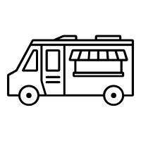 Food truck icon / pictogram created by Rafael Farias Leão for The Noun Project.