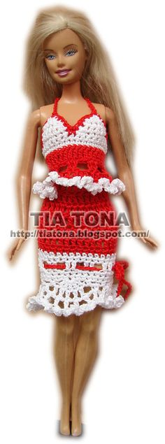 Skirt with lace and bow for Barbie