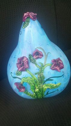 Poppies on a gourd