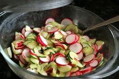 Radish cucumber salad: better homes and gardens