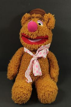 Sesame Street The Muppets Fozzie Bear Plush Stuffed Animal Toy by Jim Henson