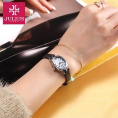 Top Julius Lady Women's Wrist Watch Cute Cobblestone Simple Fashion Hours Dress Bracelet Leather School Girl Birthday Gift 860 Outfit Accessories From Touchy Style Best Gifts For Girls, Birthday Gifts For Girls, Birthday Ideas, Cheap Watches, Best Watches For Men, Teenager Fashion Trends, Birthday Woman, Husband Birthday, Women Birthday