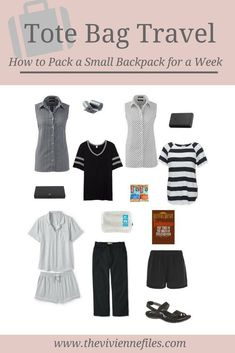 How to pack a small backpack for a week's worth of travel with a travel capsule wardrobe.