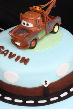 Cars Birthday Party with Mater and Lightning McQueen