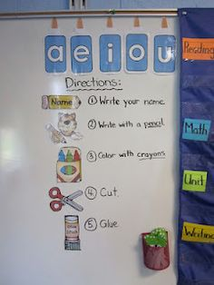 Vowels make out words stick together & visual directions
