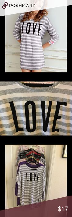 Victoria's Secret angel LOVE Sleep Tee XL Super soft, easy fit, mid thigh length great condition size extra-large Victoria's Secret Intimates & Sleepwear Pajamas