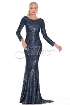 J6005 in Navy, glitter gown for prom.  Available in sizes 4-18 www.jadoreevening.ca for a full listing of boutiques that carry our collections in Canada contact us directly for USA boutiques!