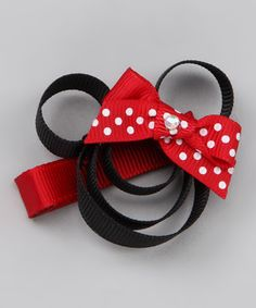 Hair Flair & Pink Poseys Bowtique | Daily deals for moms, babies and kids  Red Polka Dot Minnie Clip - zulily  $5.99 - can make