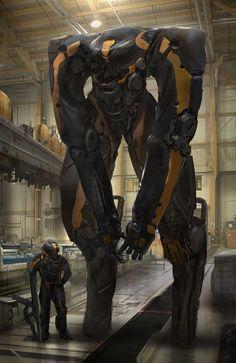 """""""Agent Orange"""" by #EddieMendoza. #sciencefictionart #sciencefiction #scifi #mech"""