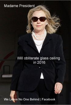 I love the sound of breaking glass... #45. Hillary Rodham Clinton for President 2016 Wife, mom, lawyer, women & kids advocate, FLOAR, FLOTUS, US Senator, SecState, author, dog owner, hair icon, pantsuit aficionado, glass ceiling cracker, TBD