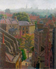 'View of Hampstead', oil paint on canvas by Charles Ginner Landscape Art, Landscape Paintings, Landscapes, London Painting, Street Painting, London Art, East London, North London, London Life