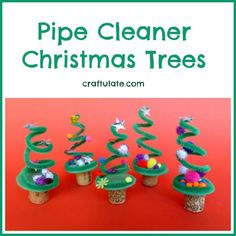 Pipe Cleaner Christmas Trees from Craftulate