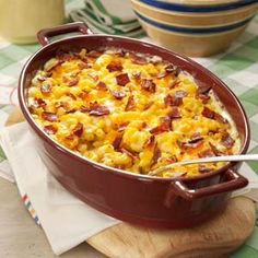 Beer Bacon Macaroni - absolutely the BEST macaroni recipe. You can leave out the beer and it still tastes great.