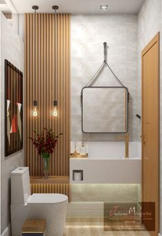 Lavabo aconchegante! #lavabo #lavabomoderno #lavaboaconchegante #julienemesquita #studiojulienemesquita #lavabodecorado Bathroom Design Luxury, Bathroom Design Small, Maison Antony, Therapy Office Decor, High Ceiling Living Room, Powder Room Design, Toilet Design, Living Room Trends, Rental Bathroom