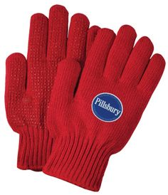 Red Knit Freezer Gloves #safety #promotional #onetouchpoint