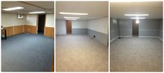 Basement Reno Project- in 1 weekend for under $2000- Paint, New Carpet, Trim. New Carpet, Basement, Divider, Hands, Crafty, Paint, Projects, Room, Furniture