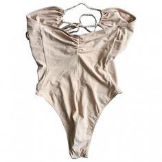 Beige Swimwear DOLCE GABBANA ($83) ❤ liked on Polyvore featuring swimwear, underwear, tops, bodies and dolce gabbana swimwear