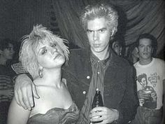 Courtney Love and Jim Jarmusch at the Sid & Nancy film party October 4, 1986