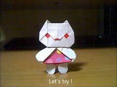 サンリオキャラクターを折り紙で作ってみました。 スタンド付きですから飾って置くことができます。