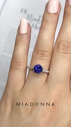 This traditional stone in a brilliant round cut is accented by recycled earth mined diamonds on a delicate thin shank. Fine Bridal Jewelry, Fine Jewelry, Blue Sapphire Rings, Diamond Rings, Engagement Ring Settings, Engagement Rings, Lab Created Diamonds, Conflict Free Diamonds, Shank