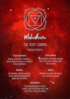 Chakra Poster Chakra Print Chakra Wall Art The Root Chakra Root Chakra Healing, Self Healing, Root Chakra Meditation, Les Chakras, Seven Chakras, Yin Yang, Chakra Meanings, Muladhara Chakra, Spirituality