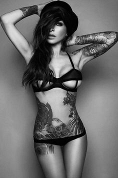 #girl #tattoo #beauty #black