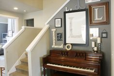 We have a piano like this and this is a cool design with frames to put over it.