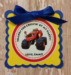 Blaze and the Monster Machines Birthday tags by MerryMakersPapier