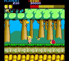 Wonder Boy for MAME - Platform game released in 1986 - The Video Games Museum has screenshots for this game 80s Video Games, Video Game Posters, Classic Video Games, Video Game Characters, Childhood Games, Childhood Memories, Video Game Museum, Wonder Boys, Retro Images