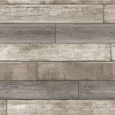 NU1690 - Reclaimed Wood Plank Natural Peel and Stick Wallpaper - by NuWallpaper