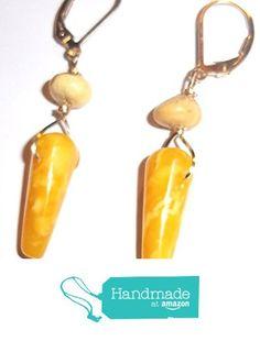 Butterscotch 'Egg Yolk' Amber Earrings from Jewelry by RayeEllen http://www.amazon.com/dp/B015DKMUNG/ref=hnd_sw_r_pi_dp_uJngwb1D4BPN3 #handmadeatamazon