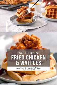 Best Chicken And Waffle Recipe, Easy Waffle Recipe, Chicken Lunch Recipes, Gourmet Chicken, Waffle Recipes, Make Ahead Brunch Recipes, Fall Recipes, Soup Recipes