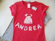 camiseta patchwork niña Andrea
