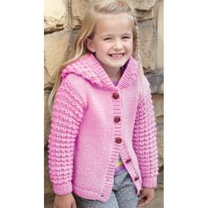 Sweater and Jacket in Hayfield Chunky with Wool - 2414 - All Hair Styles Baby Cardigan Knitting Pattern, Chunky Knitting Patterns, Girls Sweaters, Baby Sweaters, Cardigans, Quick Knits, Knitted Coat, Knitting For Kids, Knitting Supplies