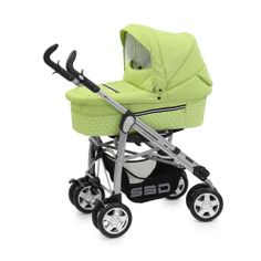 Babystyle Prestige 3 in 1 S3D - Polka Green - FREE CAR SEAT!!  at Winstanleys Pramworld