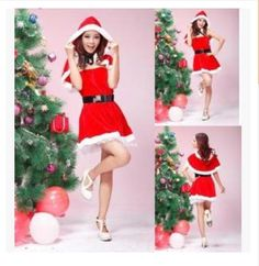 2016 New Gift Sexy Lady Women Christmas Xmas Red Santa Claus Costume Outfit Dress Fancy Dres Red Free Shipping♦️ SMS - F A S H I O N 💢👉🏿 http://www.sms.hr/products/2016-new-gift-sexy-lady-women-christmas-xmas-red-santa-claus-costume-outfit-dress-fancy-dres-red-free-shipping/ US $13.49