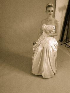 Silk 1950's wedding dress from Elizabeth Avey. www.elizabethavey.com