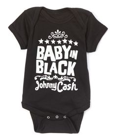 Look at this 'Baby in Black' Johnny Cash Bodysuit - Infant on #zulily today!