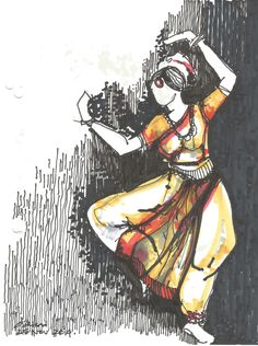 Urban Sketchers: Classical Dance from Bangalore, India: Dance Paintings, Indian Art Paintings, Watercolor Paintings, Abstract Paintings, Oil Paintings, Watercolor Artists, Abstract Oil, Dance Oriental, Bts Design Graphique