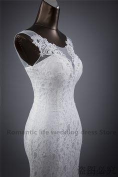 Lace flowers backless mermaid wedding dress - My Wedding Ideas