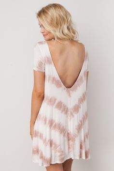 To the Point Tie-Dye Dress in Ivory