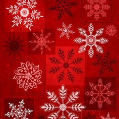 Holiday-Magic-Red-Snowflakes-Christmas-Quilt-Fabric-by-the-1-2-yd