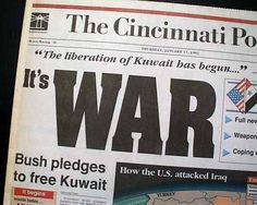 War In Kuwait. The US intervened in Kuwait in 1991 to expel an invading Iraqi army in the Gulf War.