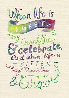 Celebrate / Grow